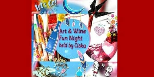 Art & Wine Fun Night Event 27 09 19