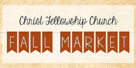 9th Annual Christ Fellowship Church Fall Market tickets