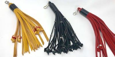 Make your own leather handbag dangle