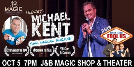 As Seen on FOOL US! - Michael Kent at J&B Magic Shop tickets