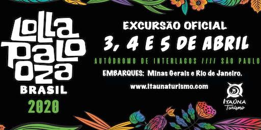 Lollapalooza Brasil 2020 - Excursão Saindo do Rio de Janeiro e Belo Horizon
