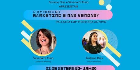 Palestra de Marketing e Vendas com MENTORIA AO VIVO ingressos