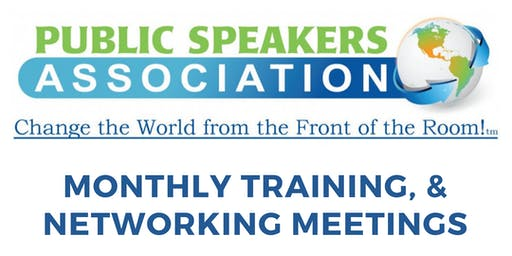 Public Speakers Association London Chapter Monthly Meeting