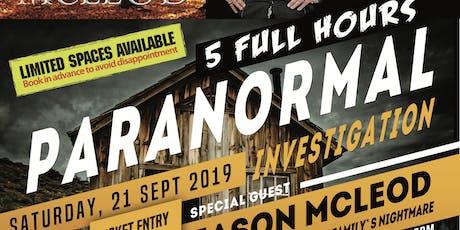 5 Hour Paranormal Presentation & Investigation tickets