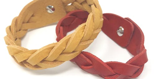 Make your own braided leather cuff at John Lewis, Bluewater