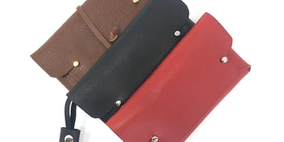 Make your own leather clutch purse