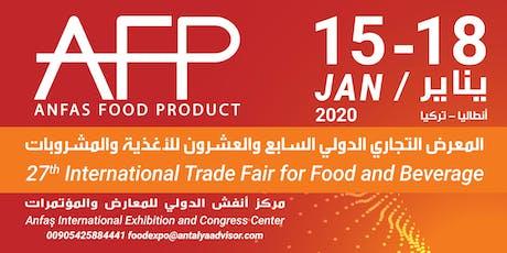 27th Anfas International Trade Fair For Food & Beverage biglietti