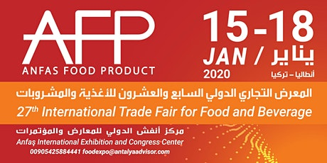 27th Anfas International Trade Fair For Food & Beverage tickets