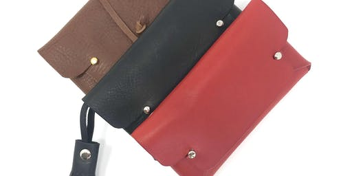 Make your own leather clutch purse at John Lewis, Bluewater