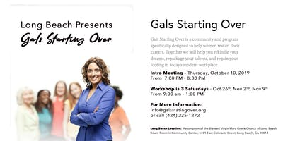 Long Beach Fall Career Workshop starts in October!  3 Consecutive Saturday