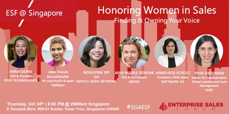 Honoring Women In Sales - Finding & Owning Your Voice tickets
