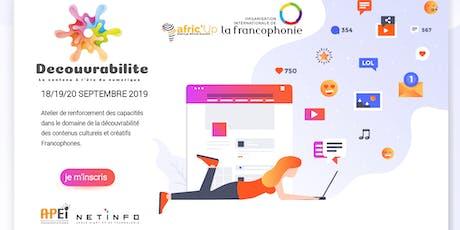 Formation ▷ Développer sa visibilité lorsqu'on est entrepreneur culturel. tickets