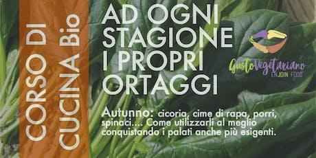 """Corso di cucina vegetariana con degustazione """"L'autunno"""" Tickets"""