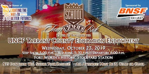 School Daze Party Train Benefiting UNCF Tarrant County Education Endowment