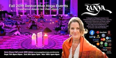 October Restorative Yoga & Sound Healing with Forrest Neumann tickets