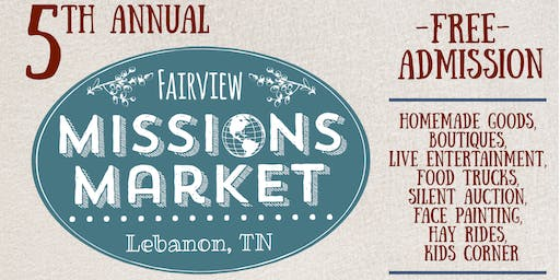 5th annual Fairview Missions Market