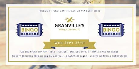 GRANVILLES - MONTHLY - BINGO! (GINGO!) tickets