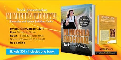 """Lanzamiento del Libro  """"Mi Mochila Emocional"""" por Jackeline Cacho  tickets"""