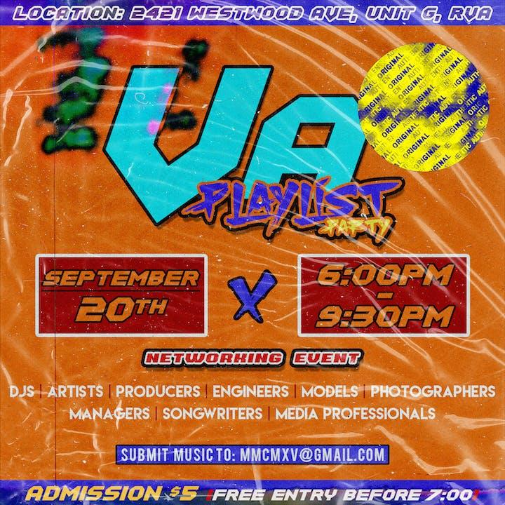 VA Playlist Party Tickets, Fri, Sep 20, 2019 at 6:00 PM