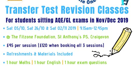 Transfer Test Revision Classes (Session 1) tickets