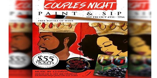 Couple's Sip N Paint Night