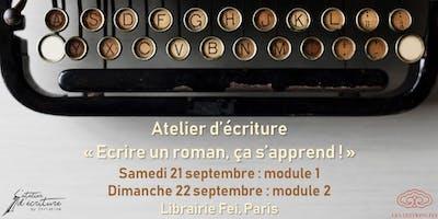 Atelier d'écriture : `Écrire un roman, ça s'apprend !`