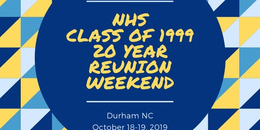 Northern High School Class of 1999 20 Year Reunion Weekend