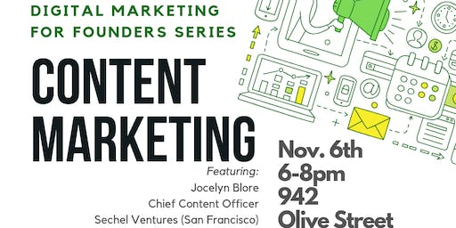 Digital Marketing for Founders Series: Content Marketing