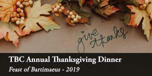 2019 TBC Thanksgiving Fundraising Dinner | TBC感恩晚宴