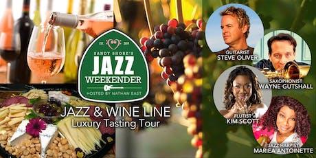 Sandy Shore's  Jazz Weekender :  Jazz + Wine Line Luxury Tasting Tour tickets