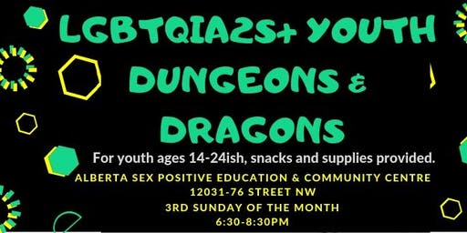 LGBTQIA2S+ Youth Dungeons & Dragons @ASPECC