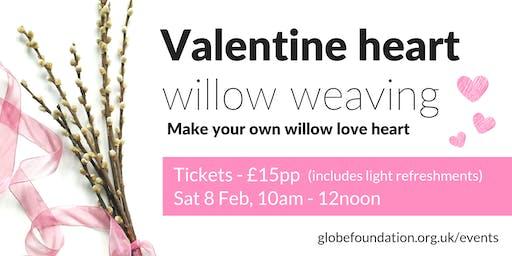 Valentine heart willow weaving