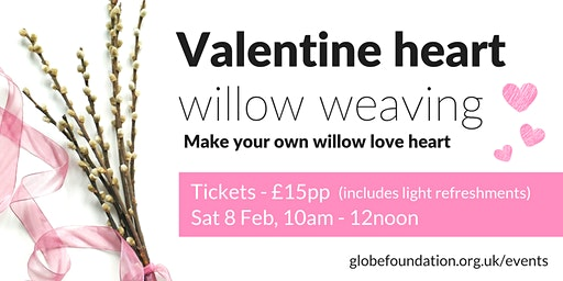 Valentine heart willow weaving