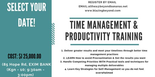Time Management & Productivity Training