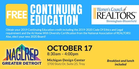 NAGLREP Greater Detroit & WCR Continuing Ed Oct 17 tickets