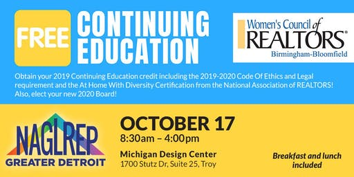 NAGLREP Greater Detroit & WCR Continuing Ed Oct 17