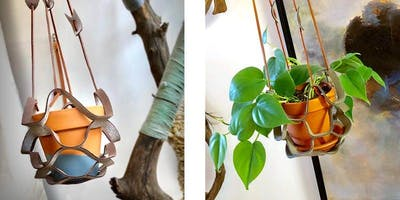 Make a Leather Plant Hanger