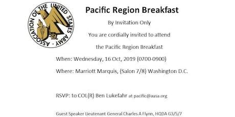 AUSA Pacific Region Breakfast tickets
