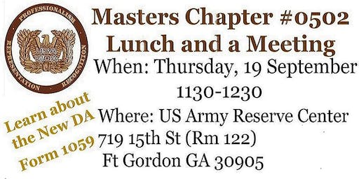 USAWOA Masters Chapter Lunch and a Meeting