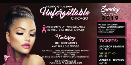UNFORGETTABLE  FASHION EVENT A  TRIBUTE TO BREAST CANCER  NOVEMBER  17TH tickets