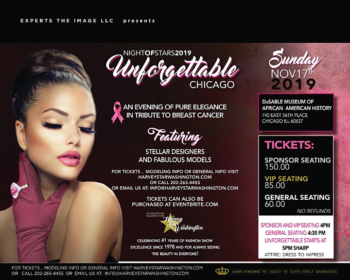 UNFORGETTABLE  FASHION EVENT A  TRIBUTE TO BREAST CANCER  NOVEMBER  17TH image