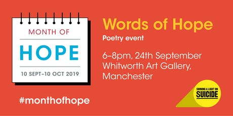 Words of Hope Poetry Event tickets