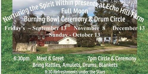 Full Moon Drum Circle & Burning Bowl Ceremony