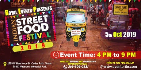 Indian Street Food Festival 2019 tickets