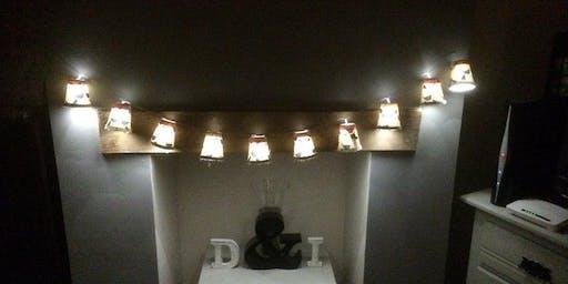 Christmas Decoupaged Fairy Lights