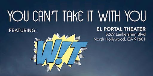 Fall Play: You Can't Take It With You - Saturday Show Featuring WIT