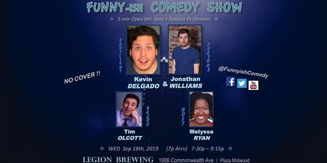 Funny-ish Comedy: Sep OpenMic+Showcase (FREE) tickets