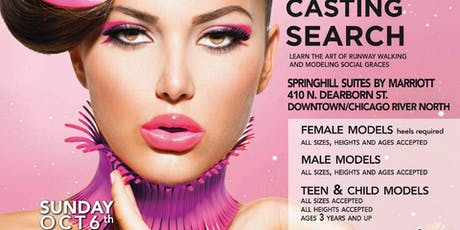 UNFORGETTABLE OPEN MODEL CASTING SEARCH  ON SUNDAY OCTOBER 6TH 2019 tickets