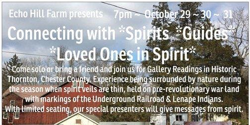 Connecting with Spirit ~ Gallery Readings with Christine Gurganus, Spiritual Medium, Psychic, Healer Oct 30