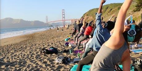 Saturday Groove : Beach Yoga with Sarah Allison! tickets